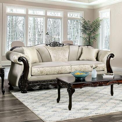 Furniture of America Newdale SM6425SF Stationary Sofa Beige, SM6425-SF Main