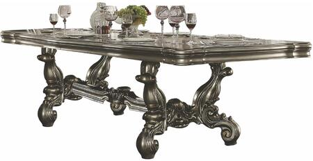 Acme Furniture Versailles 66830 Dining Room Table Silver, Dining Table