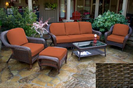 Tortuga Sea Pines LEX651TRAVEB Outdoor Patio Set Brown, LEX651TRAVEB Main Image