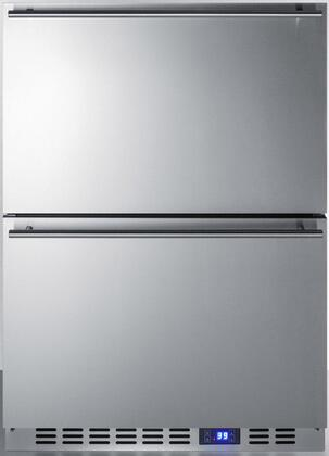 Summit  SPFF51OS2D Drawer Freezer Stainless Steel, Front View