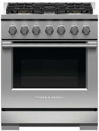 Fisher Paykel Professional RGV3305L Freestanding Gas Range Stainless Steel, RGV3305 Professional Gas Range