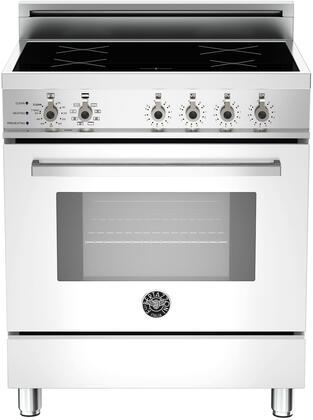 Bertazzoni Professional PRO304INSBI Freestanding Electric Range White, In Pure White