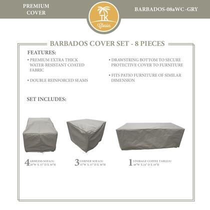 BARBADOS-08aWC-GRY Protective Cover Set  for BARBADOS-08a in