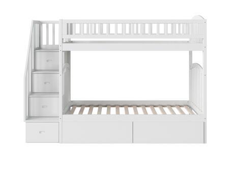 Atlantic Furniture Westbrook AB65642 Bed White, AB65642