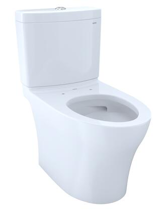 CST446CUMG#01 Aquia IV 1G Toilet – 1.0 GPF & 0.8 GPF  Elongated Bowl  CEFIONTECT  Skirted Design and 12″ Rough-In in Cotton