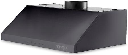 Thor Kitchen HRH3609BS Under Cabinet Hood Black Stainless Steel, HRH3609BS Side View