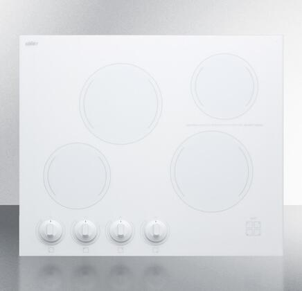 Summit CREK4W Electric Cooktop White, CREK4W Electric Cooktop