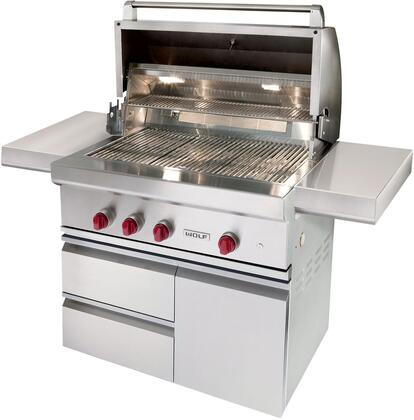 Wolf  OGCART36 Natural Gas Grill Stainless Steel, OGCART36