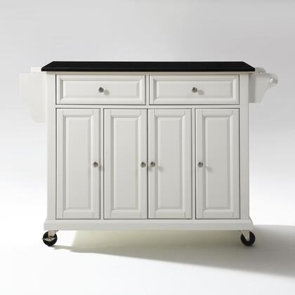 Crosley Furniture Full Size Kitchen KF30004EWH Kitchen Cart White, KF30004EWH W1
