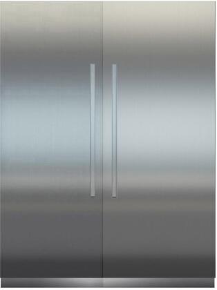 66″ Side By Side Column Refrigerator & Freezer Set with MRB3600 36″ Right Hinge Refrigerator  MF3051 30″ Left Hinge Freezer  Door Panels and Monolith