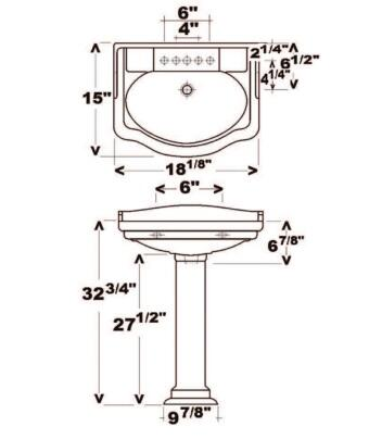 Barclay  3871WH Sink White, Specifications