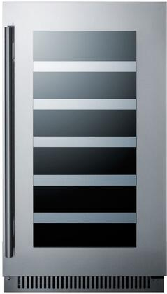 Summit Classic CL18WC Wine Cooler 26-50 Bottles Stainless Steel, Main Image