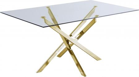 Meridian Xander 902T Dining Room Table Gold, 902T Main Image