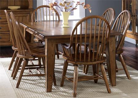 Liberty Furniture Treasures 17DR5PCS Dining Room Set Brown, Main Image