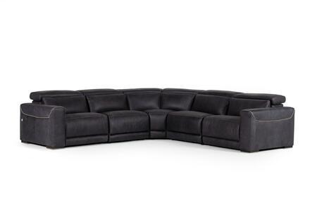VIG Furniture Estro Salotti Thelma VGNTTHELMABLK Sectional Sofa Black, Main Image