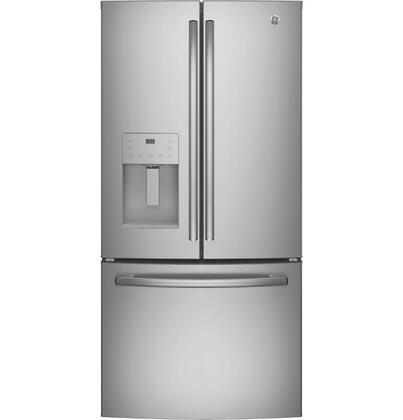 GE  GFE24JSKSS French Door Refrigerator Stainless Steel, Main Image