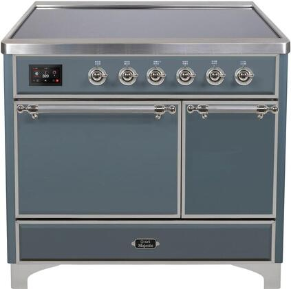 Ilve Majestic II UMDI10QNS3BGC Freestanding Electric Range Blue Grey, Blue Grey Induction Range