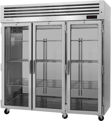 PRO-77H-G 78″ Pro Series Glass Door Heated Cabinet with 73.9 cu. ft. Capacity  Digital Temperature Control & Monitor System  Ducted Fan Air