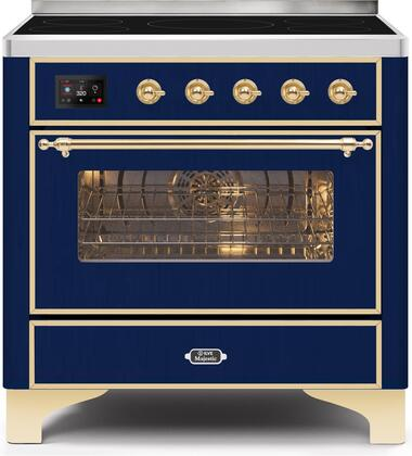 Ilve Majestic II UMI09NS3MBG Freestanding Electric Range Blue, UMI09NS3MBG Induction Range