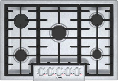 Bosch Benchmark NGMP056UC Gas Cooktop Stainless Steel, Main View