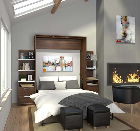 Bestar Furniture Cielo 8088130 Bed Brown, 8088130 Open View