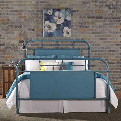 Liberty Furniture Vintage Series 179BR13HFRBL Bed Blue, 179 br13hfr bl
