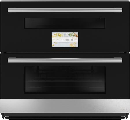 Cafe Minimal CTS92DM2NS5 Double Wall Oven Platinum, Main Image