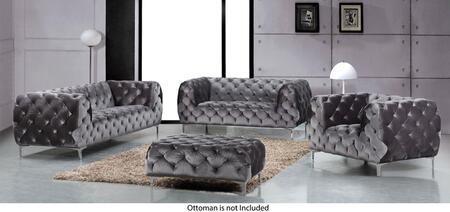 Meridian Mercer 646GRYSLC Living Room Set Gray, Main Image