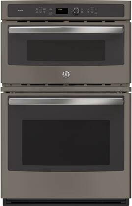 GE Profile  PK7800EKES Double Wall Oven Slate, Front View