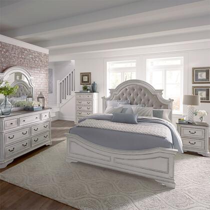 Liberty Furniture Magnolia Manor 244BRQUBDMCN Bedroom Set White, 244 br qubdmcn