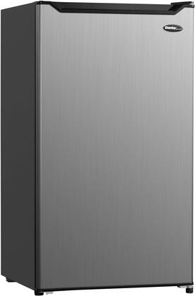 DAR032B1SLM 19″ Compact Refrigerator with 3.2 cu. ft. Capacity  Automatic Defrost  Glass Shelves and Mechanical Thermostat in Stainless