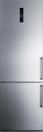 Summit  FFBF249SSBIIMLHD Bottom Freezer Refrigerator Stainless Steel, Main Image