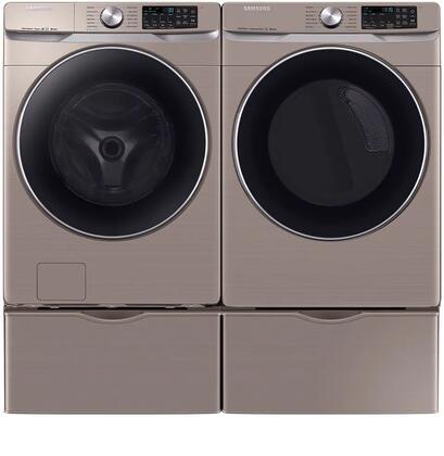 Samsung  1011054 Washer & Dryer Set Champagne, 1