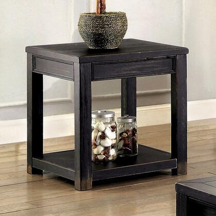 Furniture of America Meadow CM4327E End Table Black, Main Image
