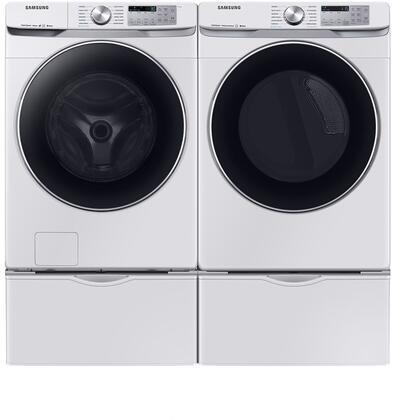 Samsung  1011070 Washer & Dryer Set White, 1