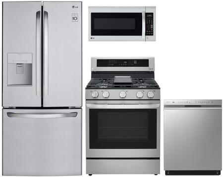 4 Piece Kitchen Appliances Package with LFDS22520S 30″ French Door Refrigerator  LRG3194ST 30″ Gas Range  LDT5678ST 24″ Built In Fully Integrated
