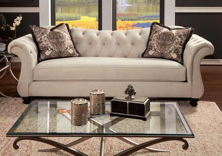 Furniture of America Antoinette SM2221SF Stationary Sofa Beige, Main Image