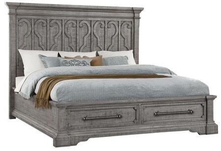Acme Furniture Artesia 27094CK Bed Gray, Angled View