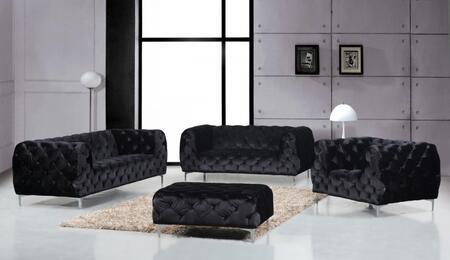Meridian Mercer 646BLSLCO Living Room Set Black, Main Image