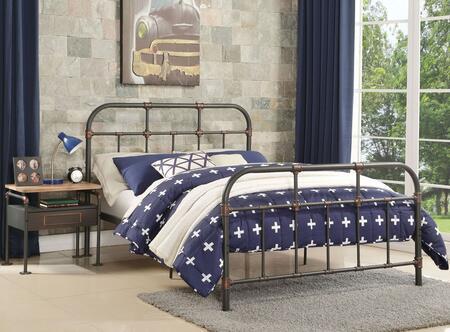 Acme Furniture Nicipolis 30730TSET Bedroom Set Gray, 2 PC Set