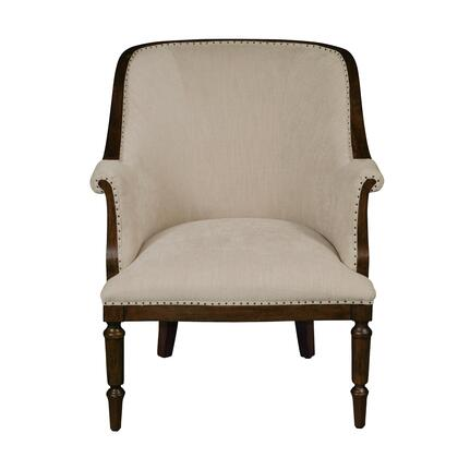 156DS-D153-783-474 Wood Framed Club Chair in Latte