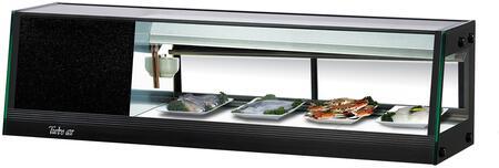 Turbo Air SAS50LN Display and Merchandising Refrigerator Black, SAS50LN Angled View