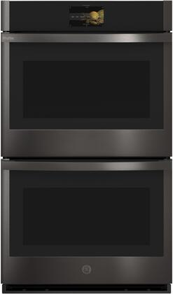 GE Profile PTD9000BNTS Double Wall Oven Black Stainless Steel, PTD9000BNTS Front View