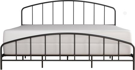 Tolland Collection 2587-660 Metal King Bed with Arched Spindle Design and Fully Welded Construction in