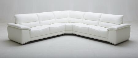 J and M Furniture Adriana 18140 Sectional Sofa White, Adriana