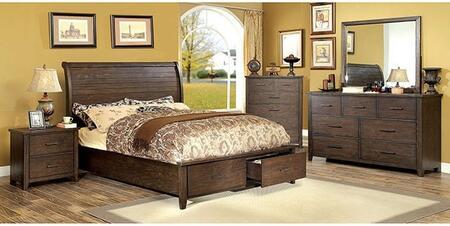Furniture of America Ribeira CM7252KSBDMCN Bedroom Set Brown, Main Image