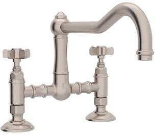Rohl Italian Country Kitchen A1459XSTN2 Faucet Gray, Satin Nickel