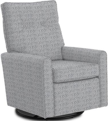 Phylicia Collection 4007-23042 Recliner with 360-Degrees Swivel Glider Metal Base  Removable Back  High Backrest  Zipper Access and Fabric Upholstery