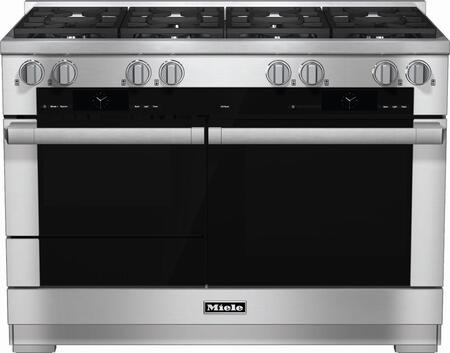 Miele M Touch HR1954DFLP Freestanding Dual Fuel Range Stainless Steel, Main View