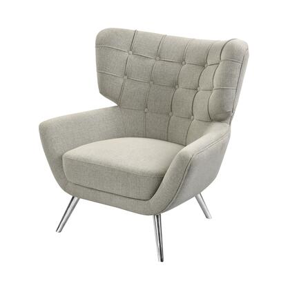 1204-102 Determinative Chair  In Grey Linen And